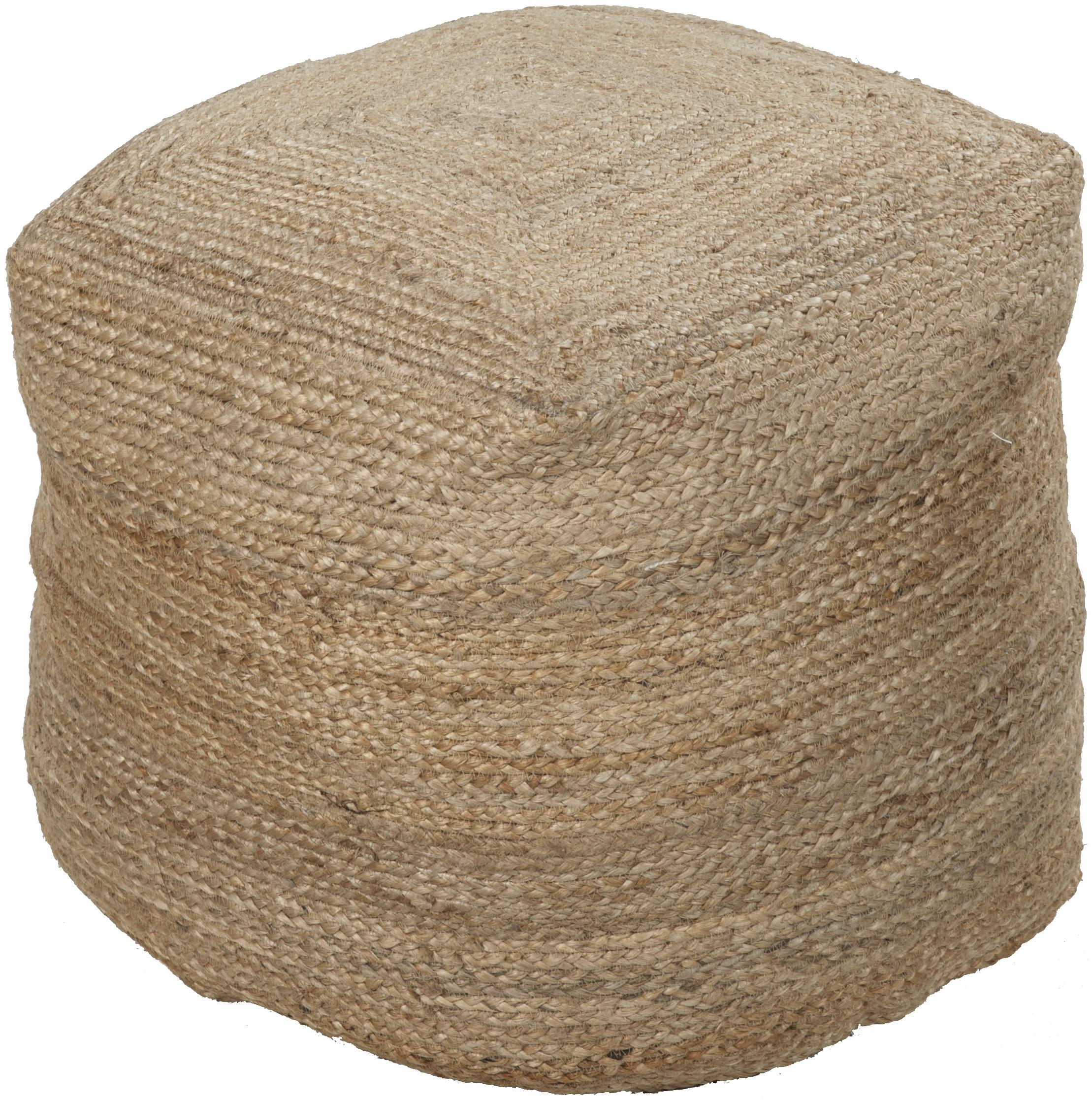 """Poufs 18""""x18""""x18"""" Pouf by Surya at Miller Waldrop Furniture and Decor"""