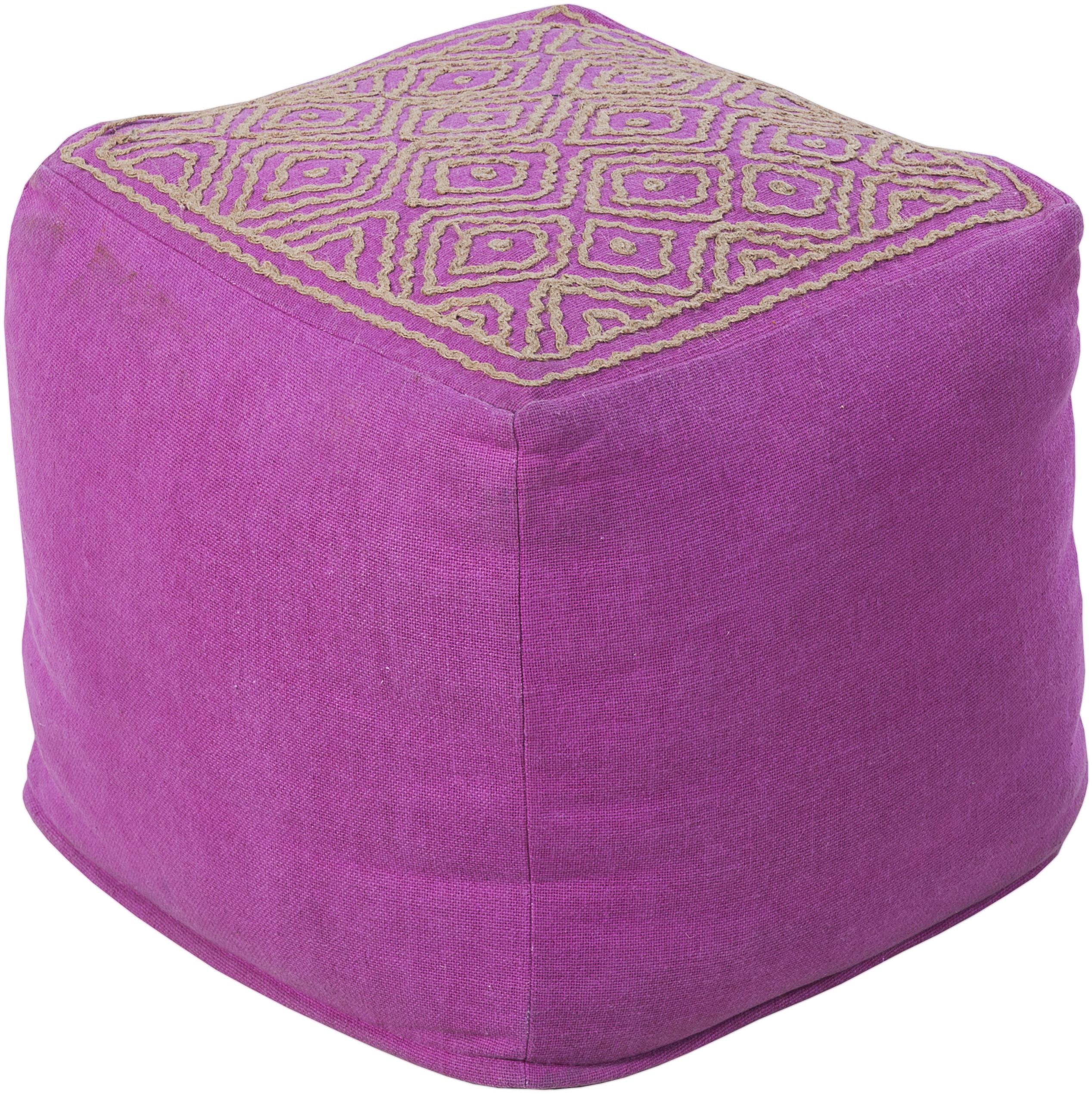 """Poufs 18"""" x 18"""" x 18"""" Pouf by Surya at Upper Room Home Furnishings"""