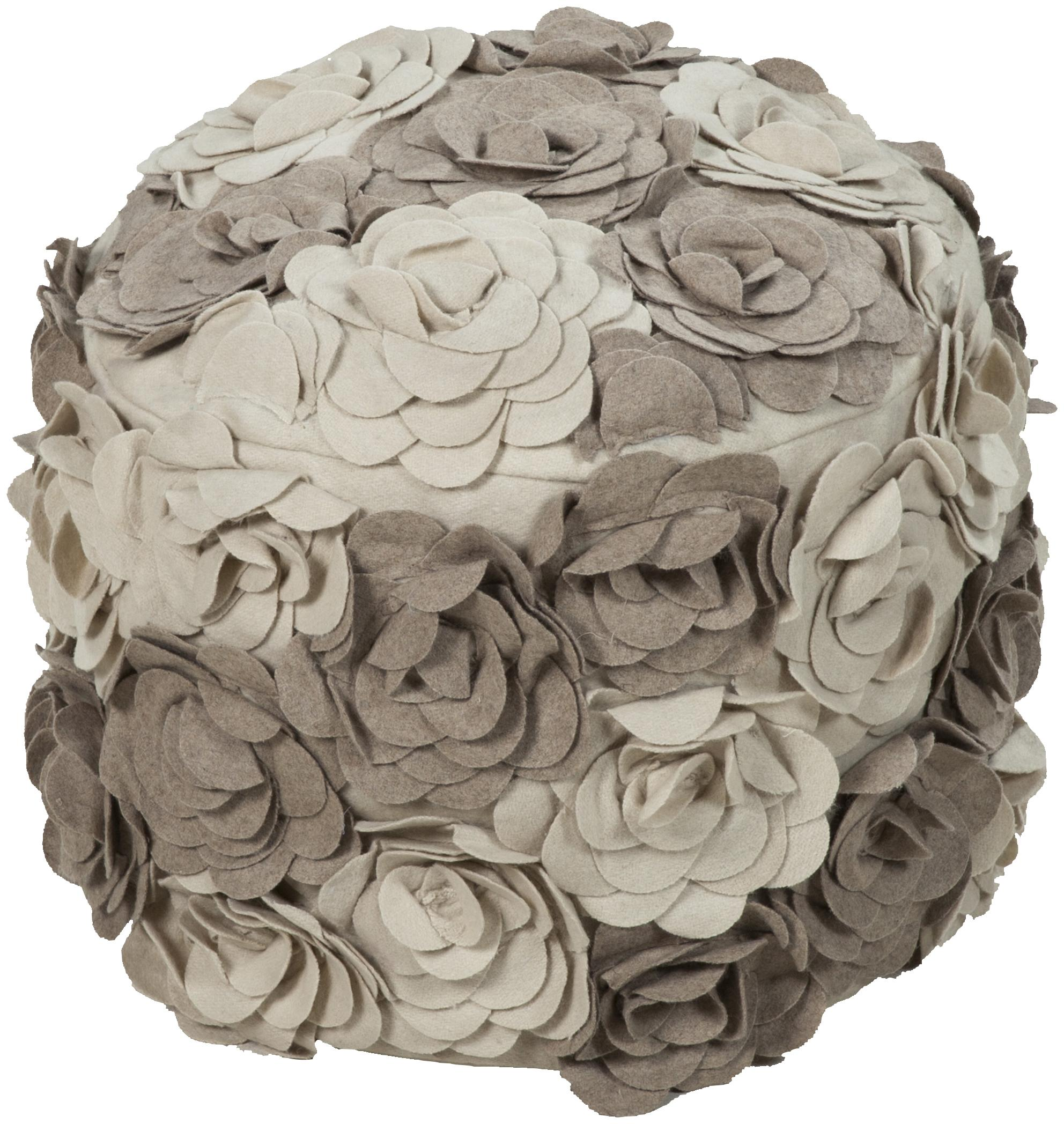"Poufs 18""x18""x14"" Pouf by Surya at SuperStore"