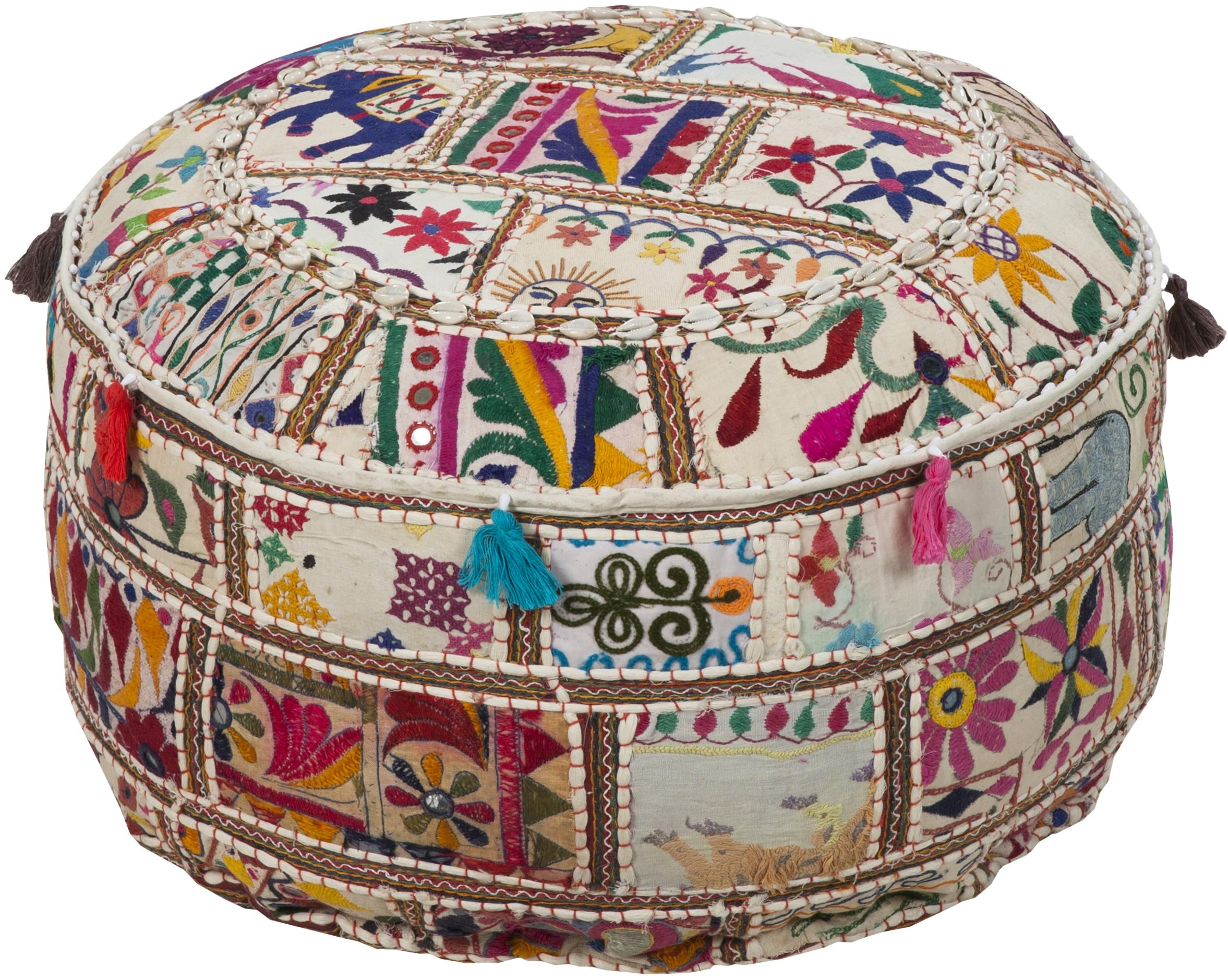 "Poufs 22""x22""x12"" Pouf by Surya at Lagniappe Home Store"