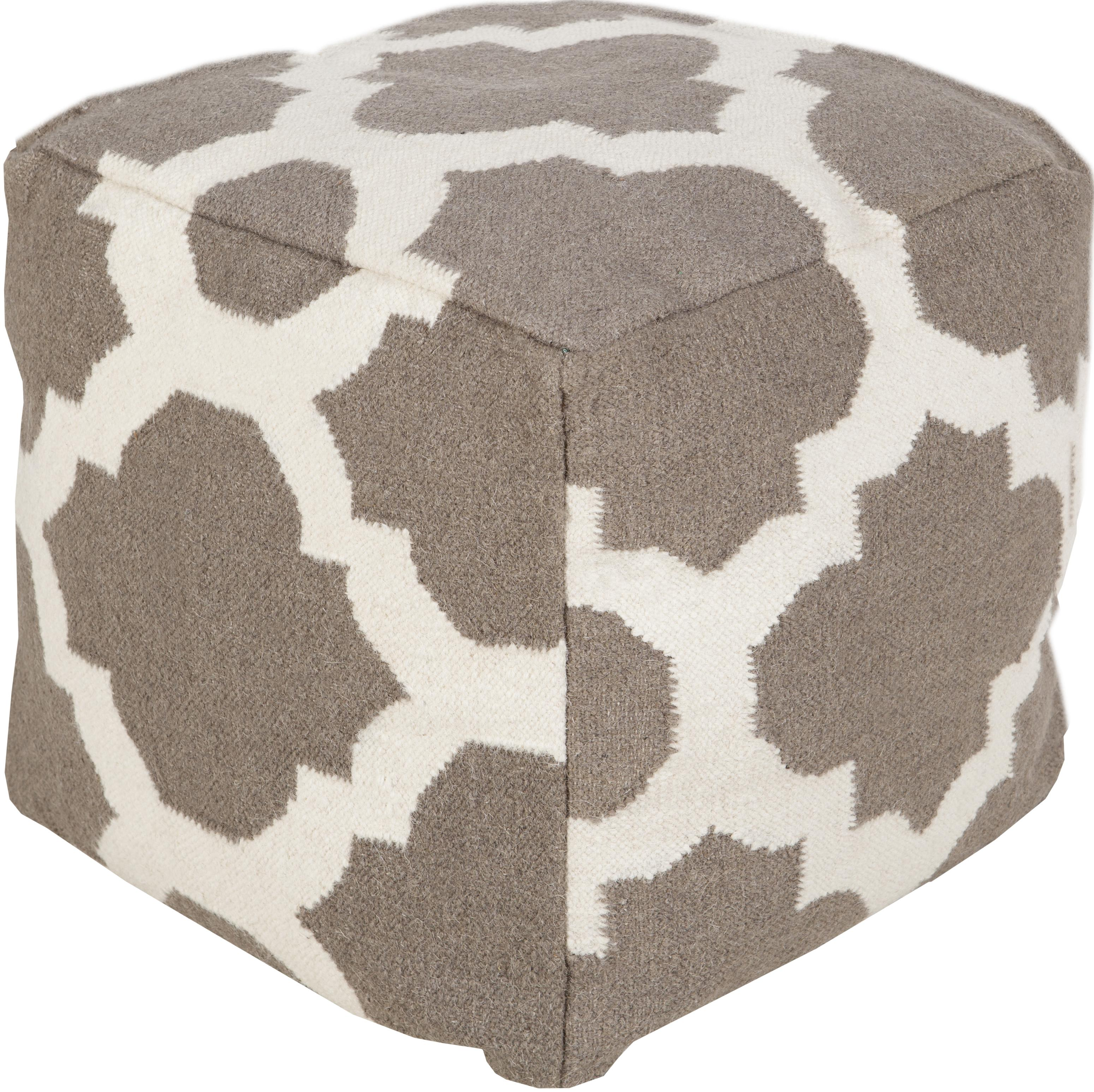 """Poufs 18"""" x 18"""" x 18"""" Pouf by Surya at Miller Waldrop Furniture and Decor"""