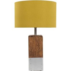 Natural Finish Rustic Table Lamp