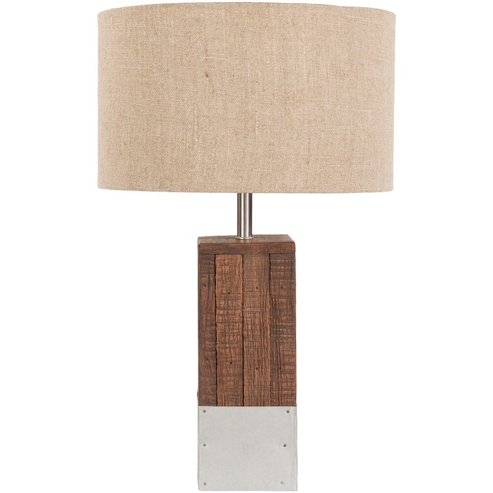 Restoration Natural Finish Rustic Table Lamp by Surya at SuperStore