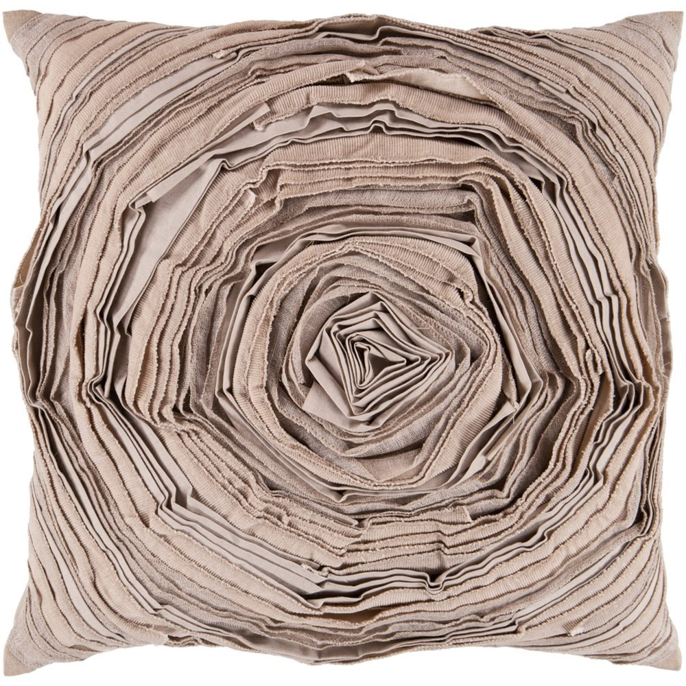 Rustic Romance 18 x 18 x 4 Down Throw Pillow by Surya at Belfort Furniture