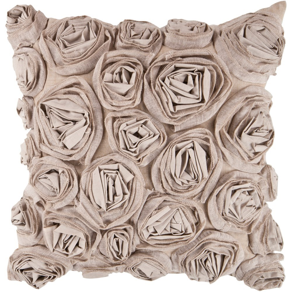 Rustic Romance 18 x 18 x 4 Down Throw Pillow by Surya at Dream Home Interiors