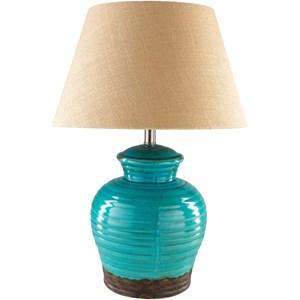 Dark Blue Rustic Table Lamp