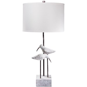 Washed Coastal Look Coastal Table Lamp