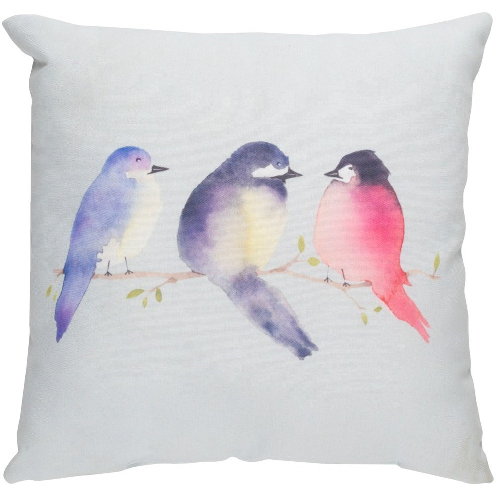 Silly Birds 20 x 20 x 4 Polyester Throw Pillow by Ruby-Gordon Accents at Ruby Gordon Home
