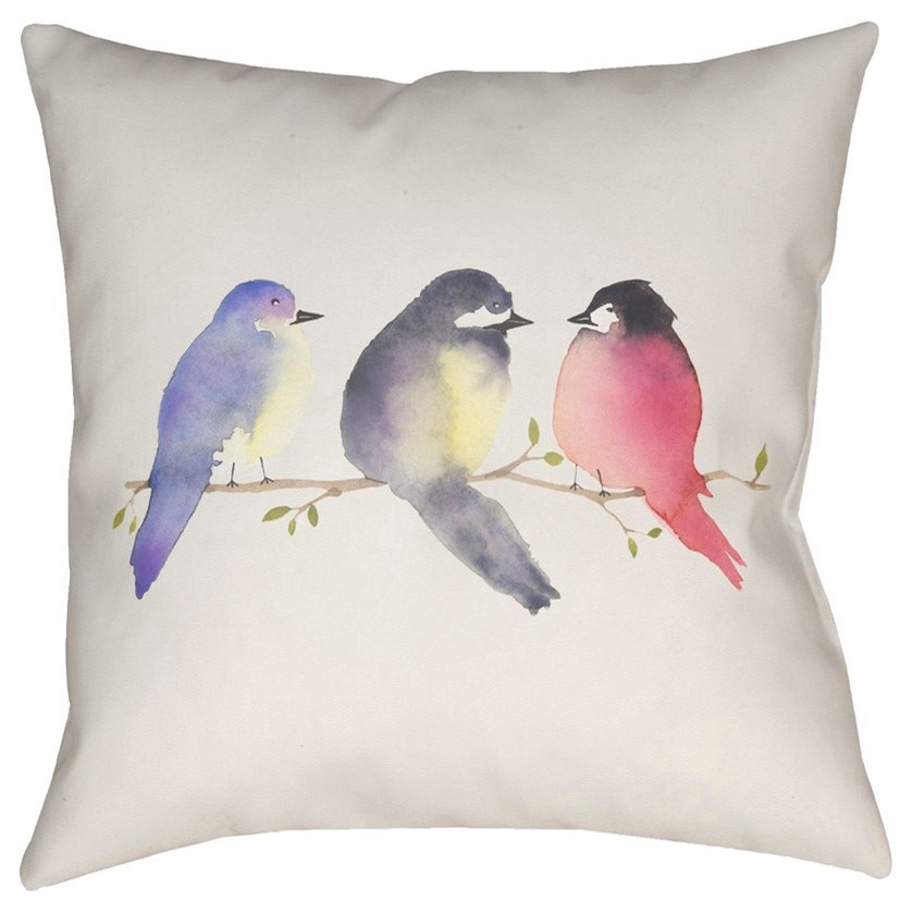 Silly Birds 18 x 18 x 4 Polyester Throw Pillow by Ruby-Gordon Accents at Ruby Gordon Home