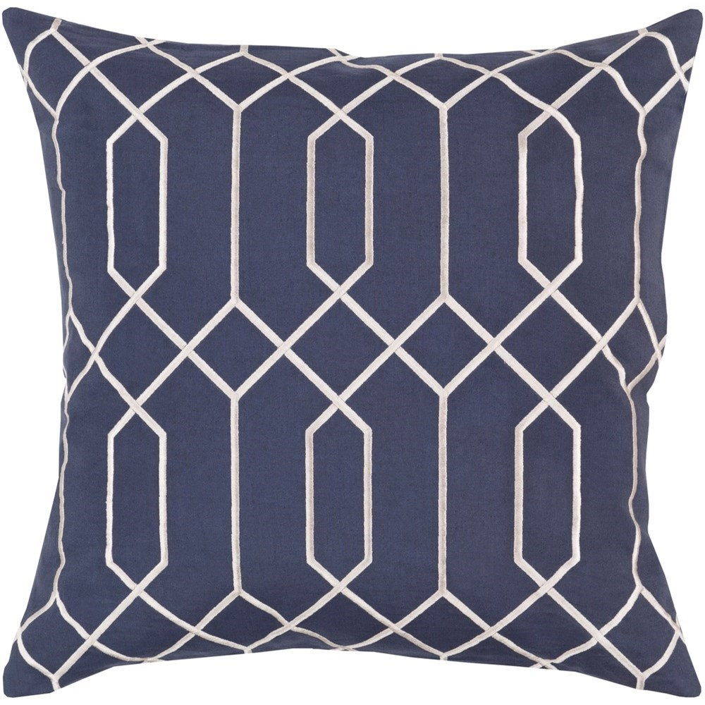 Skyline 22 x 22 x 5 Down Throw Pillow by Ruby-Gordon Accents at Ruby Gordon Home