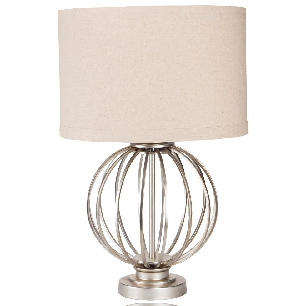 Thela Antiqued Silvertone Glam Table Lamp by Ruby-Gordon Accents at Ruby Gordon Home