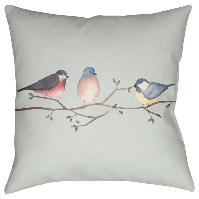 Three Birds 20 x 20 x 4 Polyester Throw Pillow by Ruby-Gordon Accents at Ruby Gordon Home