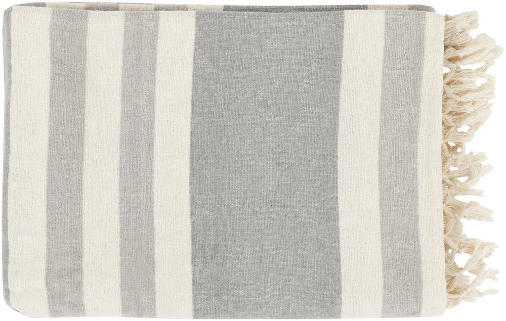 """Throw Blankets Troy 50"""" x 70"""" Throw by Surya at Miller Waldrop Furniture and Decor"""