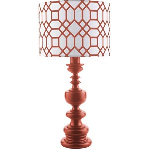Red Contemporary Table Lamp