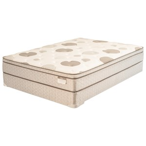 "King 10"" Cushion Firm Euro Top Mattress and Premium High Profile Foundation"