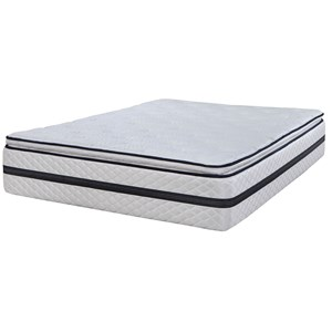 "Full 13 1/2"" Euro Pillow Top Pocketed Coil Mattress"