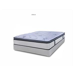 King Coil on Coil Pillow Top Mattress and Wood Foundation