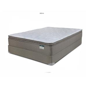 Queen Pillow Top Mattress and Wood Foundation