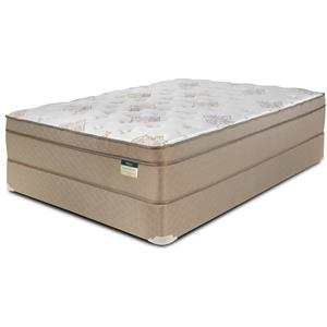 Queen Euro Top Mattress and Wood Foundation