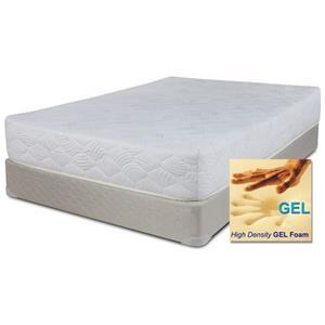 "Full 8"" Memory Foam Mattress and Wood Foundation"