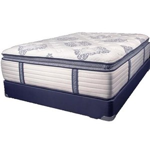 Full Coil on Coil Pillow Top Mattress and Wood Foundation