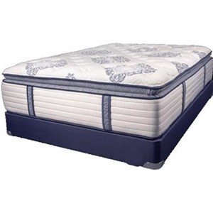 Twin Coil on Coil Pillow Top Mattress and Wood Foundation