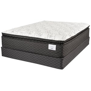 "Queen 14"" Plush Pillow Top Pocketed Coil Mattress and Premium High Profile Foundation"