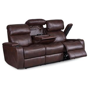 Reclining Sofa With Power Headrest and Console