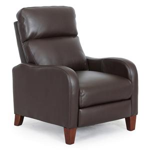 Contemporary Push Thru Arm Recliner