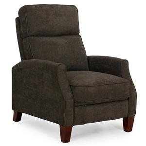 Contemporary Three Way Recliner with Push Thru Arms
