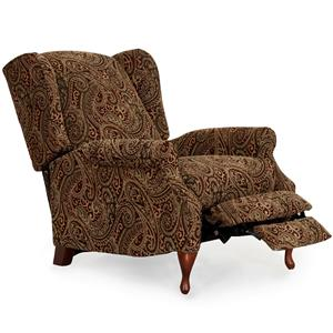 Traditional Three Way Recliner  with Tapered Legs