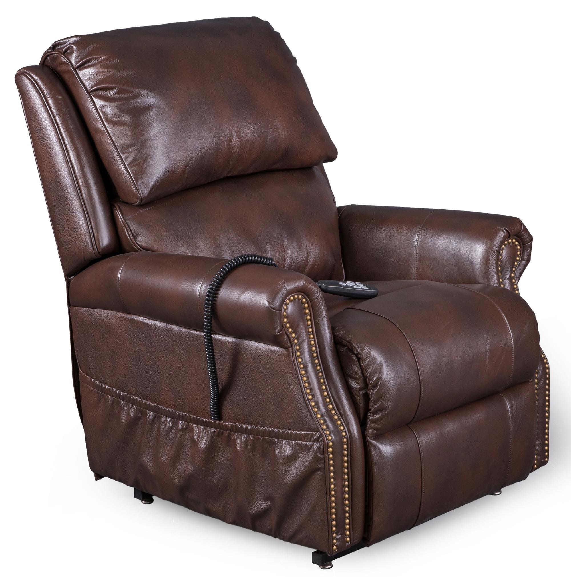 Lift Recliner with Nail Head Trim