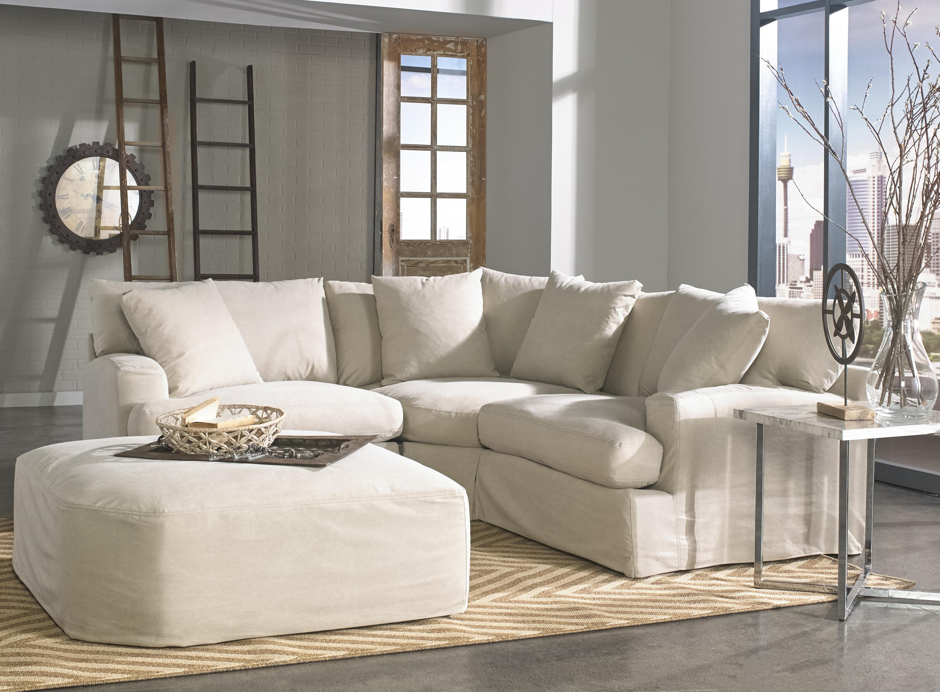 1300 3 Pc Sectional with Ottoman by Synergy Home Furnishings at Baer's Furniture