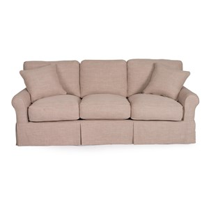 Slipcover Sofa with Sock Arms