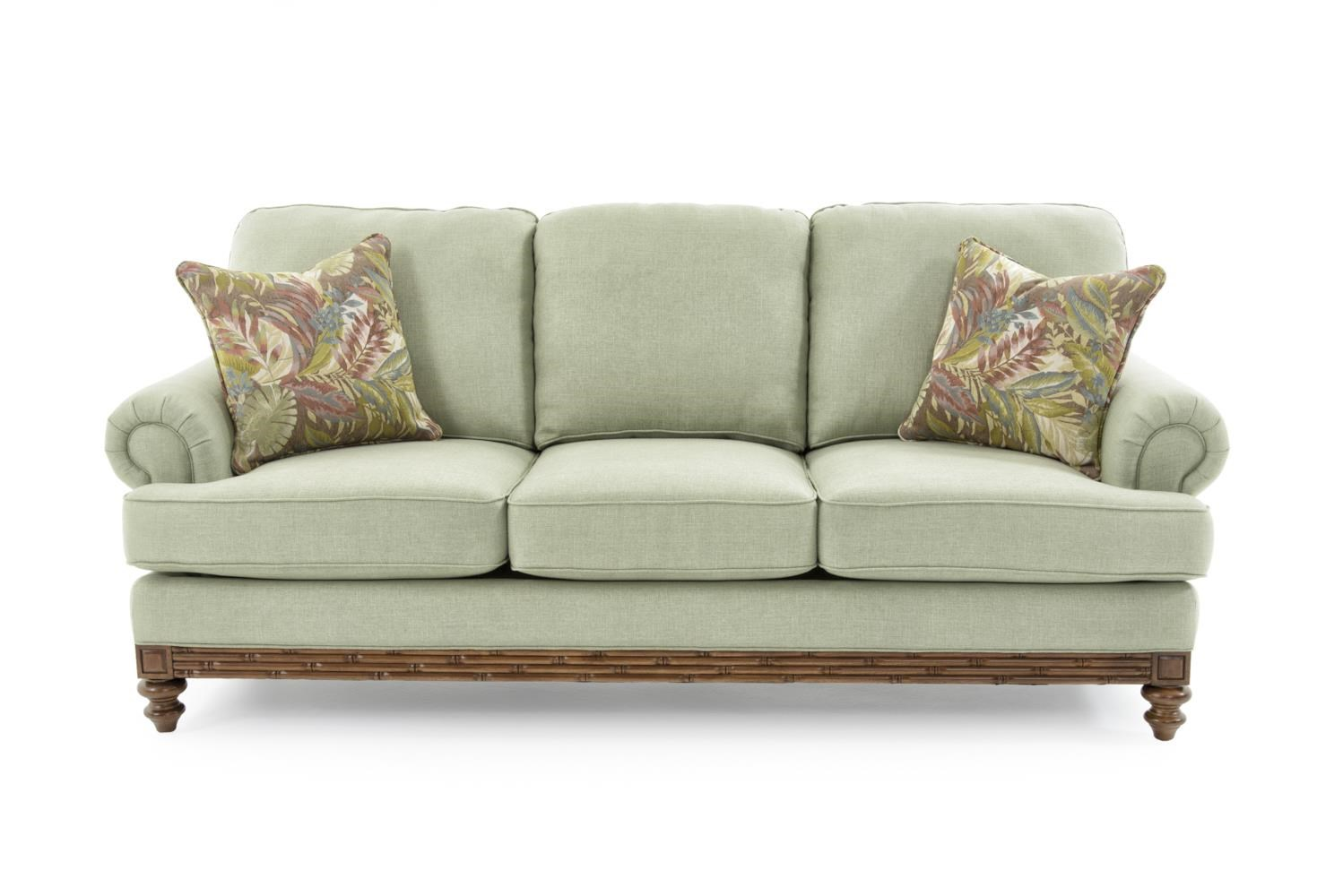 Sofa with Turned Wood Legs