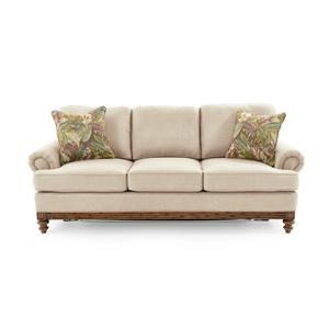 Sofa with Turned Wood Legs