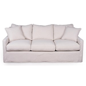 Slipcover Sofa with Queen Sleeper Mattress