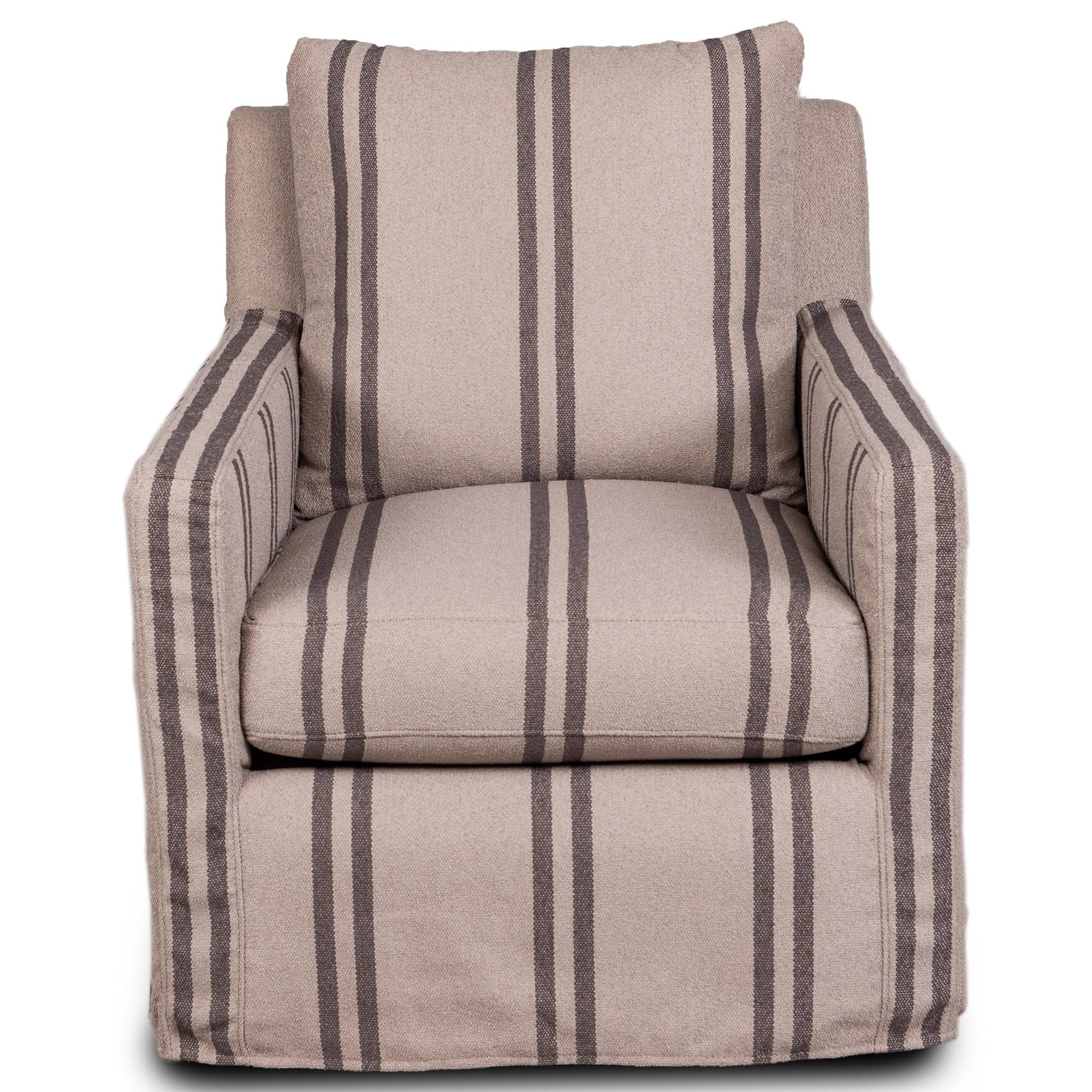 1595 Slipcover Swivel Glider Chair at Belfort Furniture