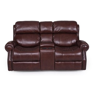 Power Reclining Console Loveseat with Power Headrests