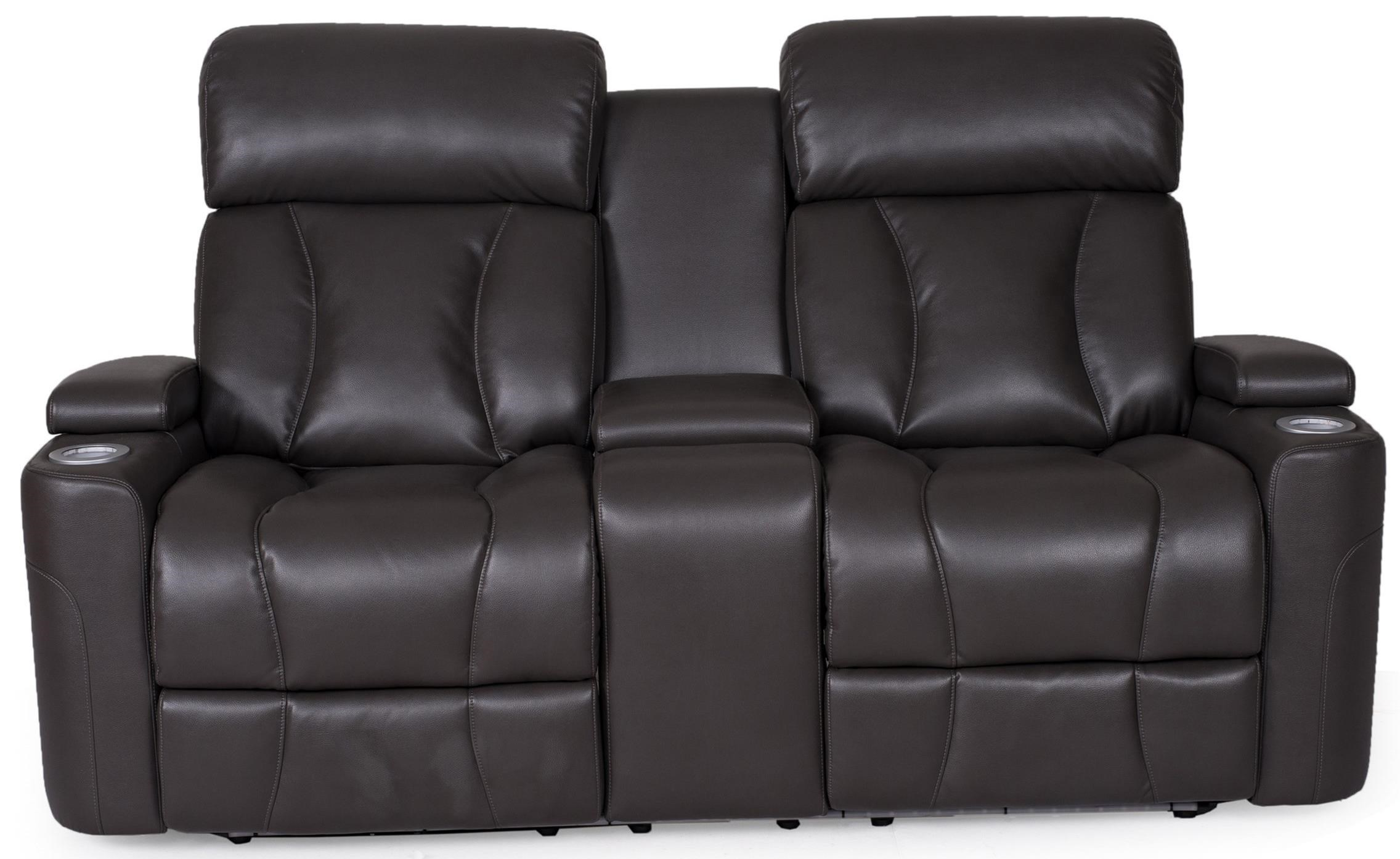 29320 Pwr Rec. Loveseat w/ Pwr Headrest & Console at Sadler's Home Furnishings