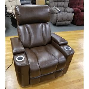 Contemporary Wall Proximity Recliner with Power Headrest