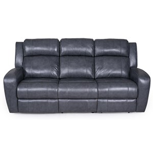 Power Reclining Sofa with Power Tilt Headrests and USB Charging Ports
