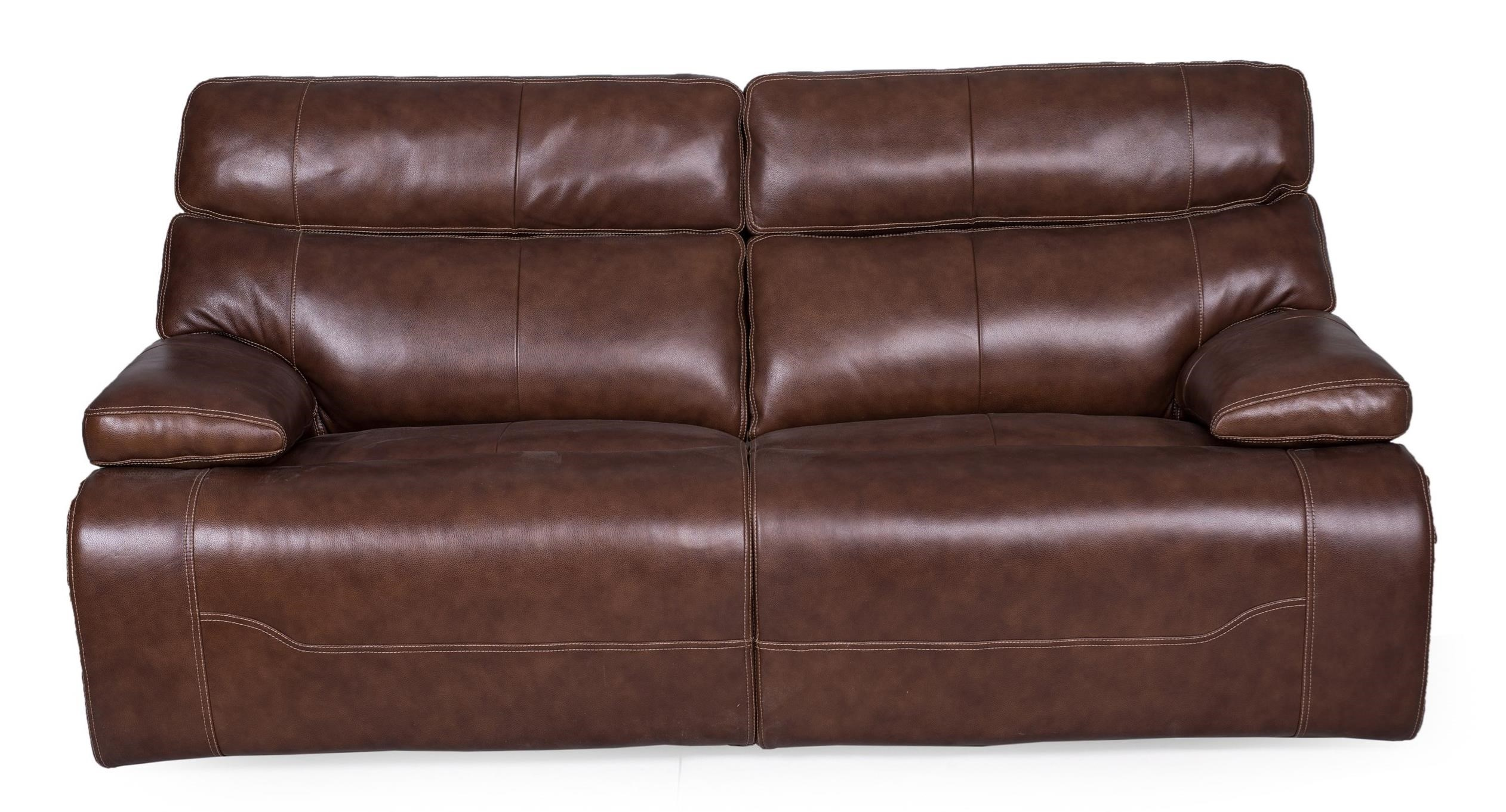 1684 Reclining Sofa w/pwr Headrest & Lumbar  by Synergy Home Furnishings at Darvin Furniture