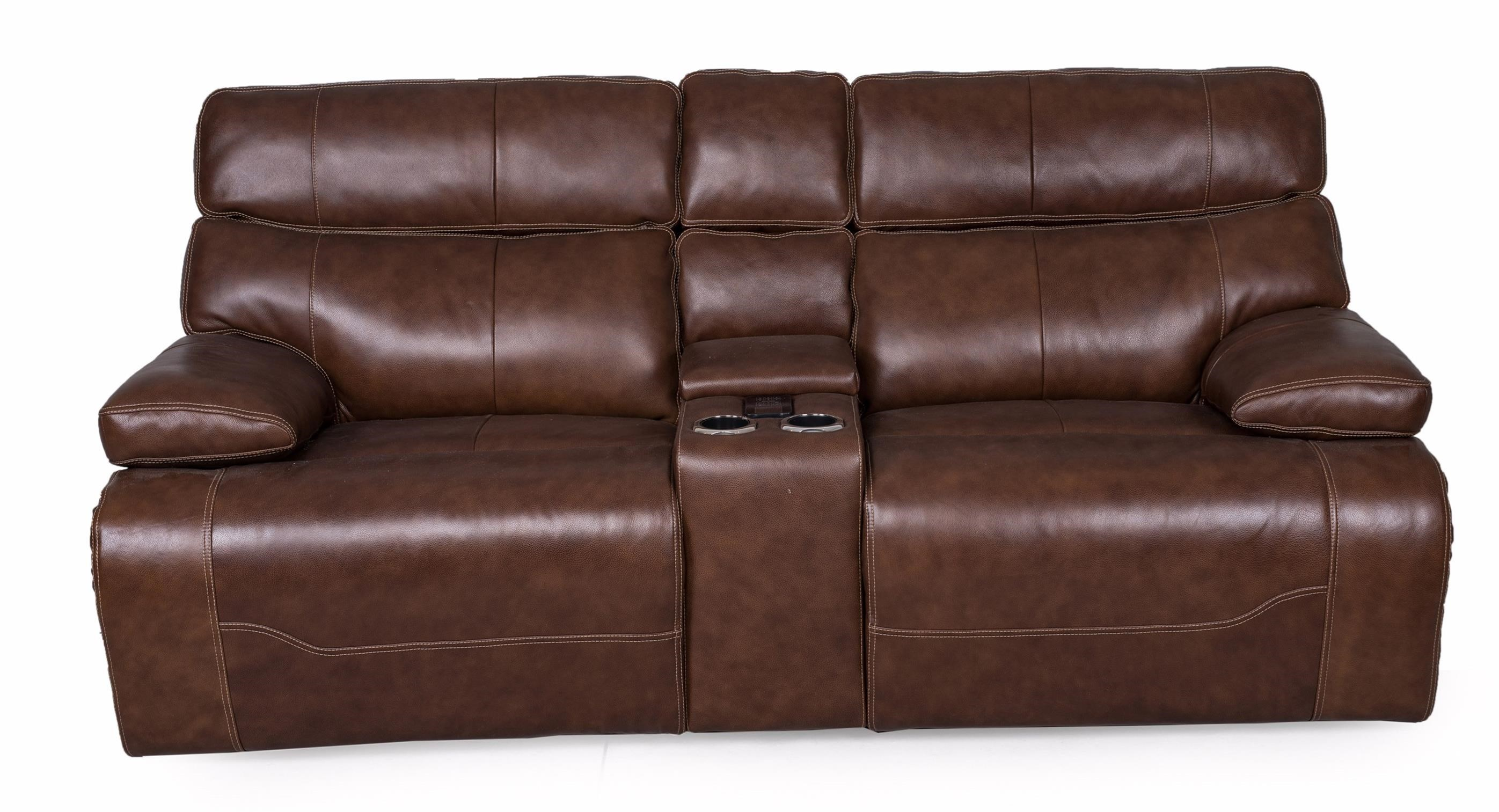 1684 Reclining Console Love w/pwr Head & Lumbar by Synergy Home Furnishings at Darvin Furniture