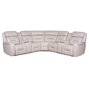 Power Reclining Sectional with Power Headrests and LED Lighting