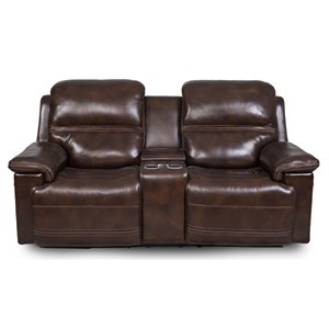 Power Reclining Console Loveseat  with Power Head/Lumbar and LCD Touch Controls