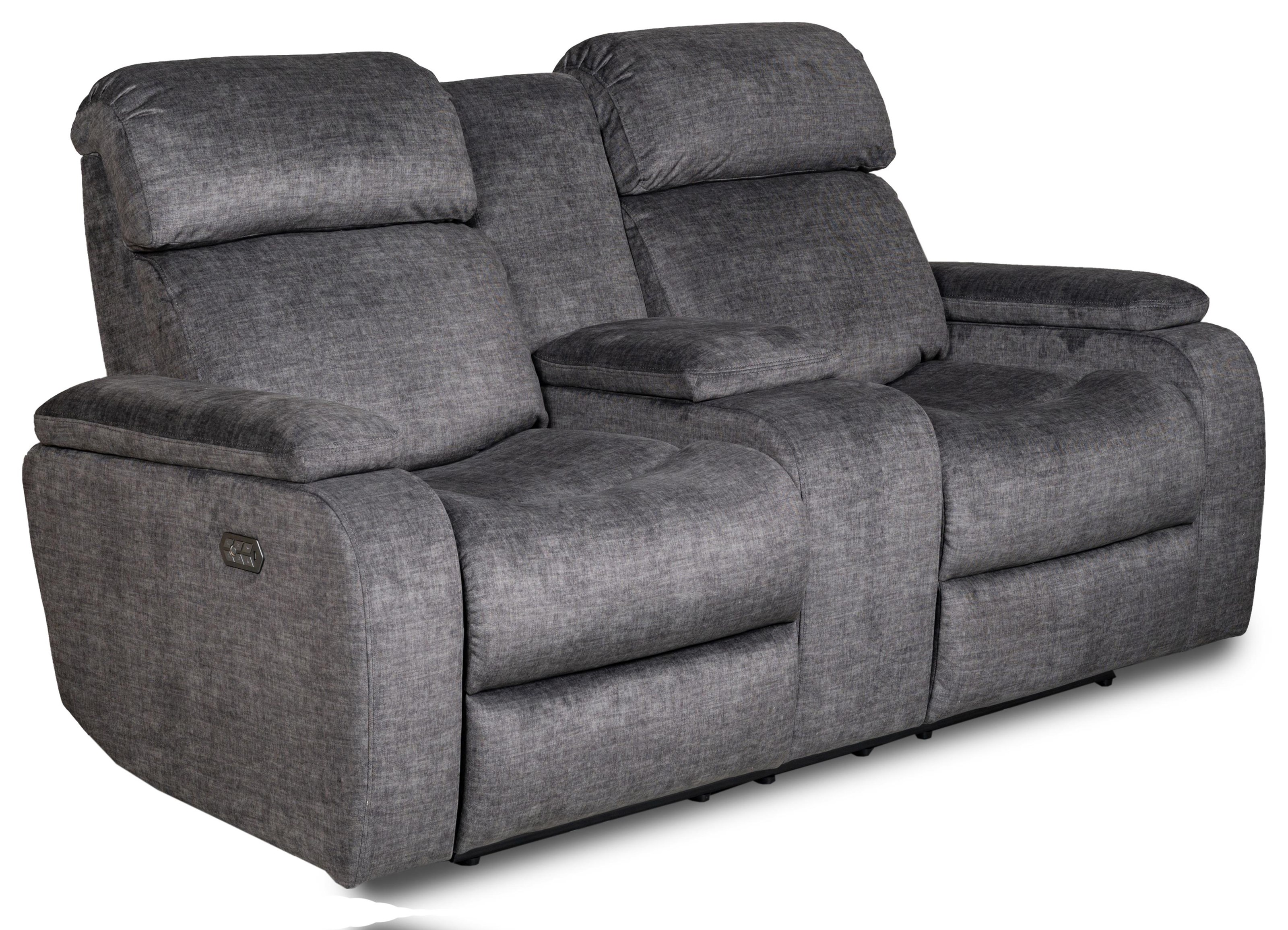 Apex Triple Power Reclining Loveseat w/ Console by Zeal at Walker's Furniture