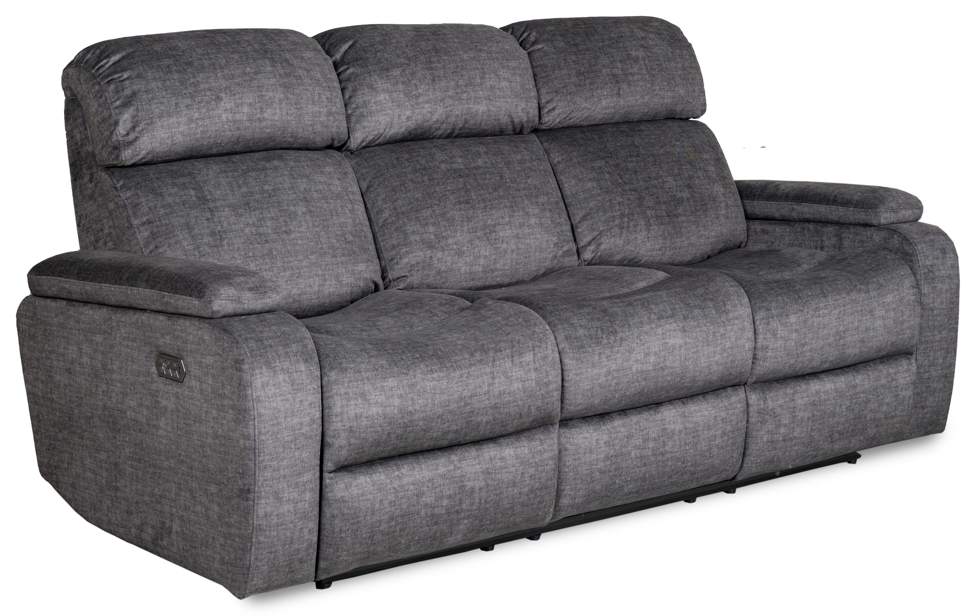 Apex Triple PWR Reclining Sofa w/ Dropdown iTable by Zeal at Walker's Furniture