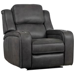 Power Headrest Recliner with LED Cup Holders