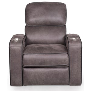 Power Headrest Recliner with Storage Compartments
